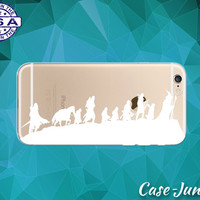 Lord Of The Rings Silhouettes White Characters LOTR iPhone 5 iPhone 5C iPhone 6 iPhone 6s iPhone 6s Plus and iPhone SE iPhone 7 Clear Case