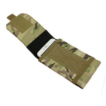 Outdoor Tactical Military Style Cell Phone Pouch MOLLE Pockets Accessories Travel Portable Cell Phone Case Bag