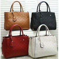 Louis Vuitton Classic Handbag Tote Bag Fashion Letter Embossing Ladies Large Capacity One-shoulder Messenger Bag