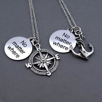 New Arrival Shiny Stylish Gift Jewelry Couple Necklace [1562497515574]