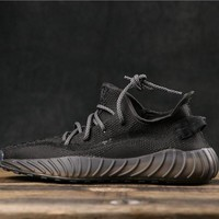 Adidas Yeezy 350 V3 Boost Black Running Shoes