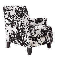 Michael Anthony Furniture Emalie Club Chair, Cow Black