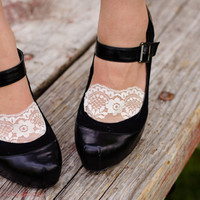 Lace socks, sexy lace socks for heels, black lace, white lace perfect socks for flats and heels
