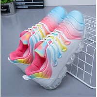 New comfortable lace up transparent air cushion soft sole running shoes