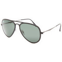 Ray-Ban Aviator Light Ray Ii Sunglasses Matte Black One Size For Men 25630618201