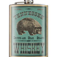 Drunk Bear Tennessee Flask 8 oz. Stainless Steel