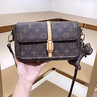 LV Louis Vuitton canvas women's briefcase shoulder bag