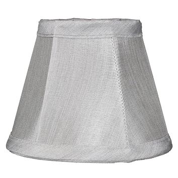 """5""""W x 4""""H Gray Stretch Clip-On Candlelabra Clip-On Lamp shade"""