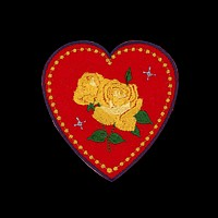 Yellow Rose Heart Patch