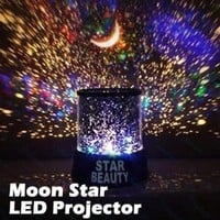 Ninimour- Star Master Starry Moon Beauty Night Cosmos Projector Bed Side Lamp (Black)