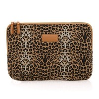"ZLYC Leopard Print Canvas Laptop Sleeve for iPad/MacBook Air (13"")"