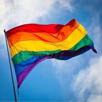 Rainbow Flag 3x5 FT Polyester Flag Gay Peace FlagsFree Shipping