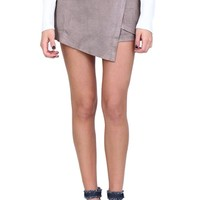 Taupe Envelope Skort at Blush Boutique Miami - ShopBlush.com : Blush Boutique Miami – ShopBlush.com