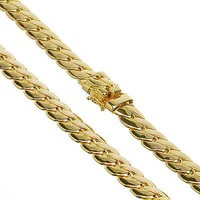 Jewelry Kay style Men's Heavy 14K Gold Plated Cuban Link Chain Box Clasp Safety Lock 12 mm / 26""