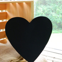 "10"" Blank Chalkboard Heart for your Rustic Wedding or Event"