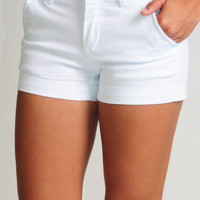 Prepared For Anything Shorts: White