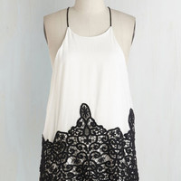 Long Sleeveless Veridical And Response Top by ModCloth