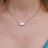 Subtle Hint Necklace - White