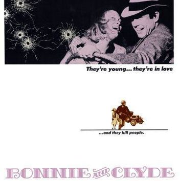 Bonnie And Clyde movie poster Sign 8in x 12in