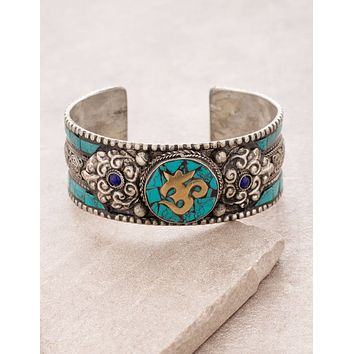 Turquoise Om Cuff - As-Is-Clearance