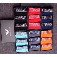 Armani Fashion Men Underpants Male Cotton Underwear+Gift Box(6-Color) I12830-1