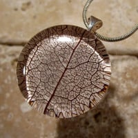 Skeleton Leaf of Salal Necklace, Leaf Jewelry, Plant Jewellery