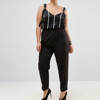 ASOS CURVE High Waist Tapered Pant at asos.com
