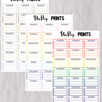 Meal Planner Stickers, Meal Plan Sidebar Stickers, Weekly Meal Planner Stickers, Healthy Planner Stickers, Sidebar Planner Stickers