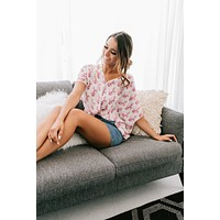 Dream About It Twist Knot Floral Top (Ivory)
