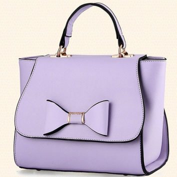 2015 New Style Women's Fashion Bow Clutch Bag Cute Candy Color Small Handbags Box Like Crossbody Shoulder Bag = 1958812740
