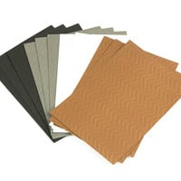 """Chevron Embossed A7 Paper Layers, 4.875"""" x 6.875"""", 12 Pack, Assorted Colors"""