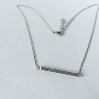 white gold Horizontal bar necklace, matte crossbar,high-quality,gift for you or friends,Wedding gifts, bridesmaid necklaces