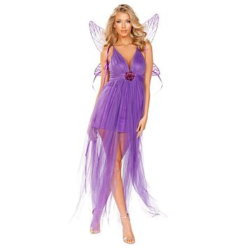 Sexy Midsummer Night's Dream Lilac Fairy Costume