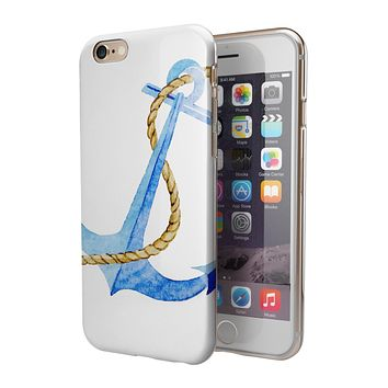 Painted Blue Summer Anchor 2-Piece Hybrid INK-Fuzed Case for the iPhone 6/6s or 6/6s Plus