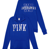 University of Kansas Bling Half-zip Pullover - PINK - Victoria's Secret