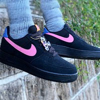 Nike Air force 1 Low New fashion hook couple running shoes Black