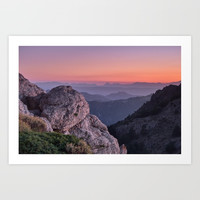 Misty Mountains At Sunset. Sierra Nevada by
