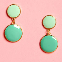 You Really Dot Me Now Mint Green Earrings