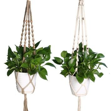 Knotted Macrame Plant Hanger