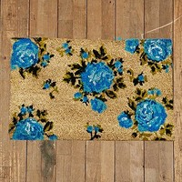 Rose Door Mat in Blue - Urban Outfitters