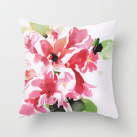 watercolor floral 2 Throw Pillow by Dalbir Design Services