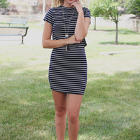City Chic Dress - Navy