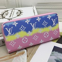 Louis Vuitton LV Ladies Tie-Dye Color Key Case Coin Purse Card Holder Bag