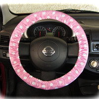 Steering-wheel-cover-for-wheel-car-accessories-Pink-Polka-dot-print