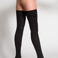 Chain-Link Solid Thigh-High Sock | Thigh-Highs | Accessories' Socks | American Apparel