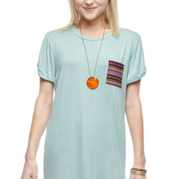 Sounds Just Right Top - Dusty Mint