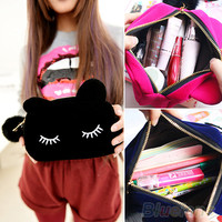 Portable Cartoon Cat Coin Storage Case Travel Makeup Flannel Pouch Cosmetic Bag 2UHH-in Cosmetic Bags & Cases from Luggage & Bags on Aliexpress.com | Alibaba Group