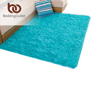 BeddingOutlet Carpet Colored Rugs Solid Simple Style Floor Mat Velvet Doormat for Home 3 Sizes