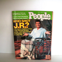 People Magazine July 1980 Who Shot J R ? Vintage 1980s Advertisements