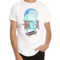 Adventure Time BMO Skateboarding T-Shirt